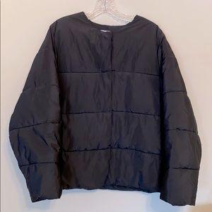 Oak + Fort Cropped Puffer Jacket